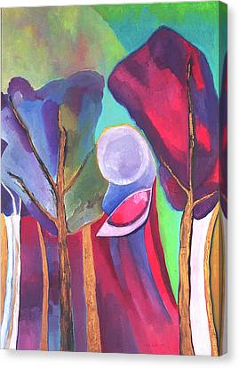 Canvas Print featuring the painting A Walk Through The Dream by Linda Cull