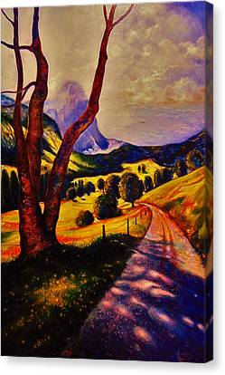 A Walk Through The Mountains Canvas Print