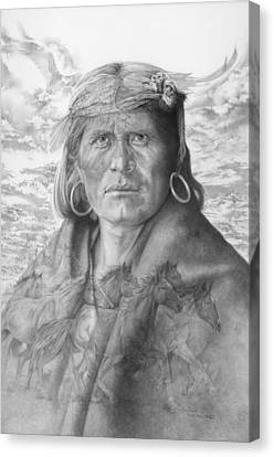 Hopi Canvas Print - A Walpi Man - The Vanishing Culture by Steven Paul Carlson