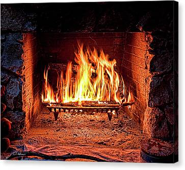 A Warm Hearth Canvas Print