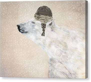 A Warm Polar Bear Canvas Print by Bri B