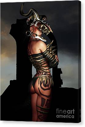 A Warrior Stands Alone Canvas Print