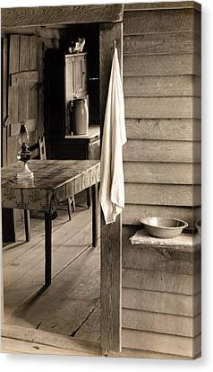 A Washstand In The Dog Run And View Canvas Print by Everett