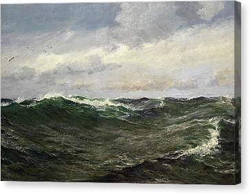 A Waste Of Waters Canvas Print by Charles Napier Hemy