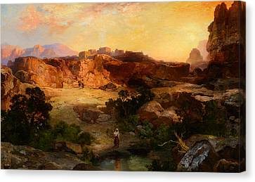 A Water Pocket Northern Arizona Canvas Print by Celestial Images
