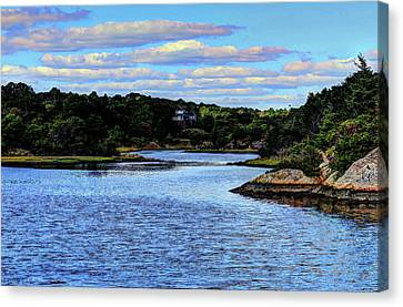 Canvas Print featuring the photograph A Water View Newport Ri by Tom Prendergast