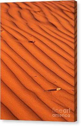 A Wave-like Pattern On Sand Canvas Print