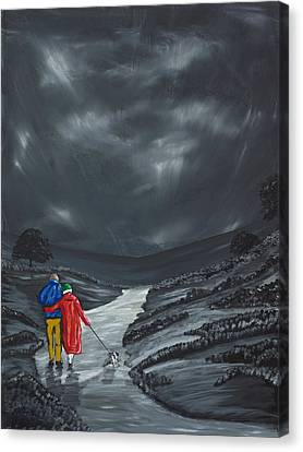 Canvas Print featuring the painting A Wee Bijou Strollette by Scott Wilmot