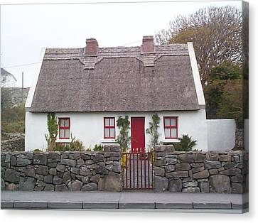 Canvas Print featuring the photograph A Wee Small Cottage by Charles Kraus