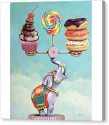 Canvas Print - A Well-balanced Diet by Linda Apple