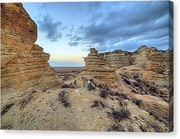 Canvas Print featuring the photograph A Western Kansas Sunrise by JC Findley