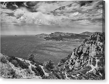 A Wild Summer Day In Mono Canvas Print