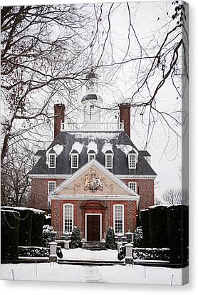 A Williamsburg Winter's Snow Canvas Print by Rachel Morrison