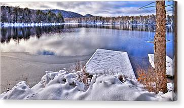 Canvas Print featuring the photograph A Winter Day On West Lake by David Patterson