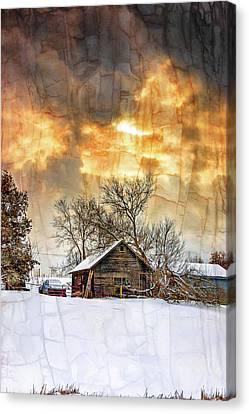 A Winter Eve - Overlay Canvas Print
