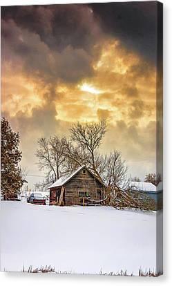 A Winter Eve Canvas Print