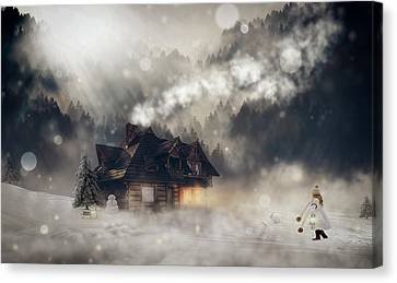 A Winter Fantasy Canvas Print by Pixel2013