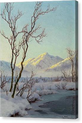 A Winter Morning In The Engadin Canvas Print