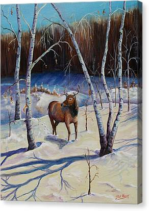 A Winter Morning Canvas Print by Philip Bracco