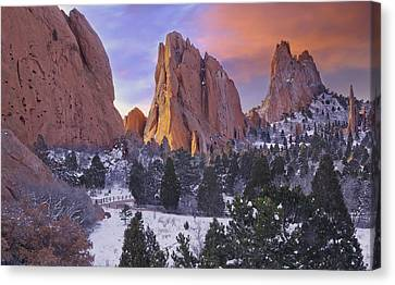A Winter Morning Canvas Print by Tim Reaves