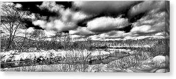 Canvas Print featuring the photograph A Winter Panorama by David Patterson