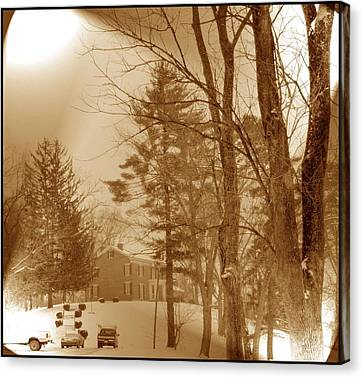 Canvas Print featuring the photograph A Winter Scene by Skyler Tipton