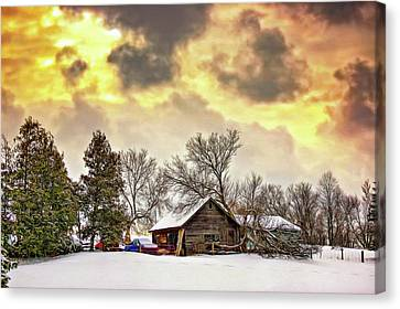 A Winter Sky - Paint Canvas Print