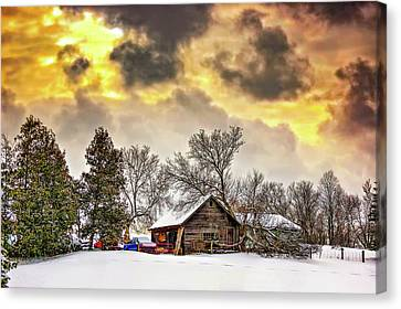 A Winter Sky Canvas Print