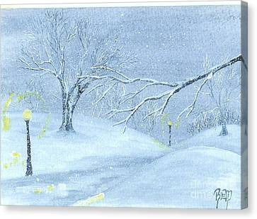 A Winter Walk... Canvas Print by Robert Meszaros