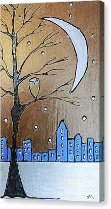 A Winter's Scene  Canvas Print by Callan Percy