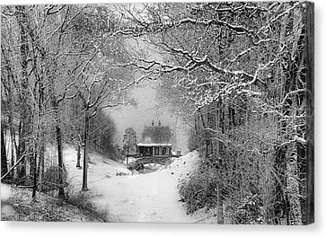 A Winter's Tale In Centerport New York Canvas Print by Alissa Beth Photography