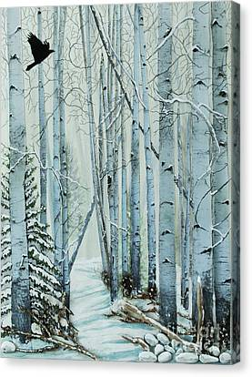 Canvas Print featuring the painting A Winter's Tale by Stanza Widen