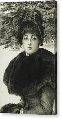 Blizzard Canvas Print - A Winter's Walk by James Jacques Joseph Tissot