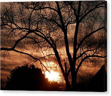 A Wisconsin Sunset Canvas Print by William Presley