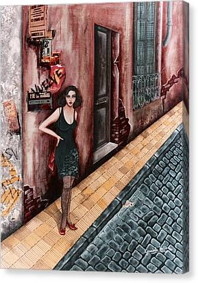 A Woman In Buenos Aires I Canvas Print