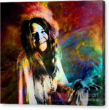 A Woman Of 1970 Rock And Roll Canvas Print