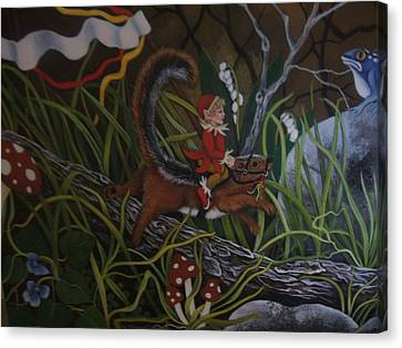 A Woodland Jaunt Canvas Print by Joan Barnard
