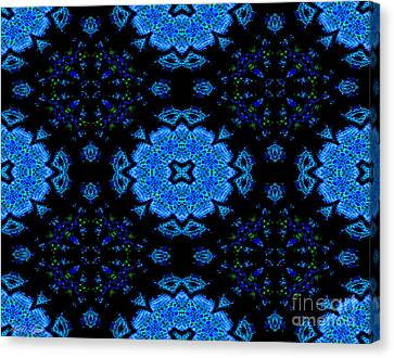 A World Of Blue Flowers Canvas Print by Debra Lynch