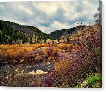 A Wyoming Autumn Day Canvas Print by L O C