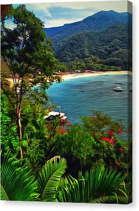 A Yelapa View Canvas Print by Lola VJ