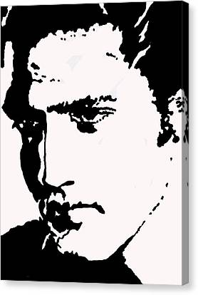 A Young Elvis Canvas Print by Robert Margetts