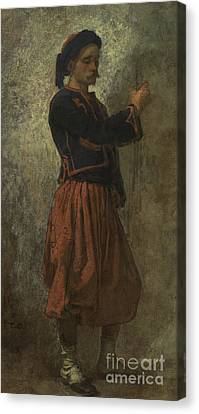 A Zouave Canvas Print by Thomas Couture