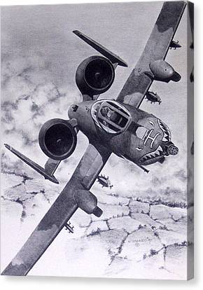 A10 Rolling Out Canvas Print by Mark Jennings
