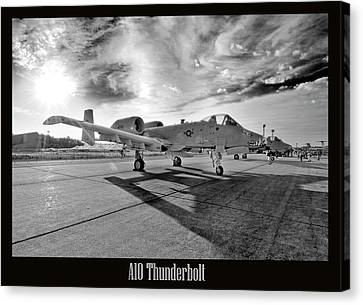A10 Thunderbolt Canvas Print by Greg Fortier