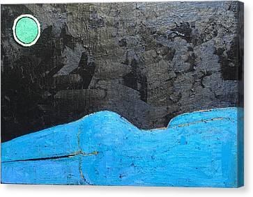 A 9 Oil On Canvas 36 X 24 2015 Canvas Print by Radoslaw Zipper