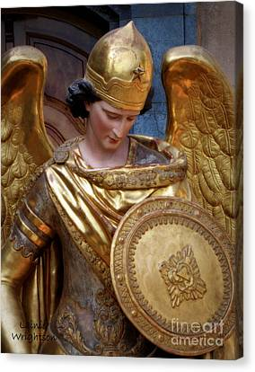 Archangel Michael Canvas Print by Lainie Wrightson