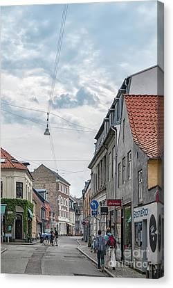 Canvas Print featuring the photograph Aarhus Urban Scene by Antony McAulay