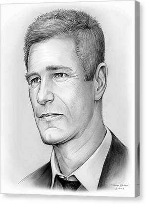 Aaron Eckhart Canvas Print by Greg Joens