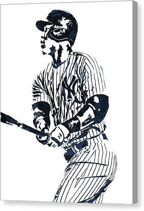 Aaron Judge New York Yankees Pixel Art 11 Canvas Print