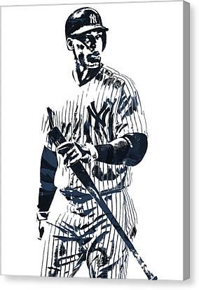 Aaron Judge New York Yankees Pixel Art 12 Canvas Print